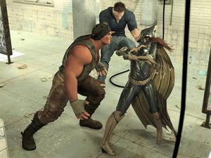 Batgirl vs Three Thugs 18