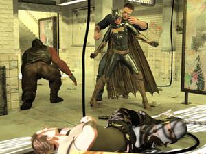Batgirl vs Three Thugs 11