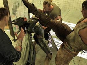 Batgirl vs Three Thugs 06