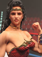 Wonder Woman in the ring 3 by DahriAlGhul