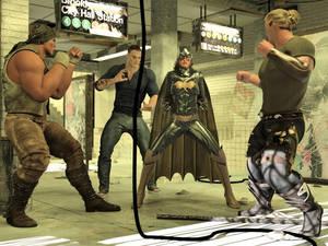 Batgirl vs Three Thugs 01