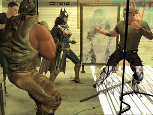 Batgirl vs Three Thugs 02