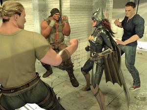 Batgirl vs Three Thugs 03