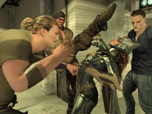 Batgirl vs Three Thugs 05