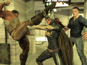 Batgirl vs Three Thugs 10