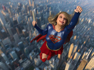 Supergirl over Chicago