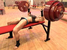Girl benchpresses 270 kg: hi-res frame 4