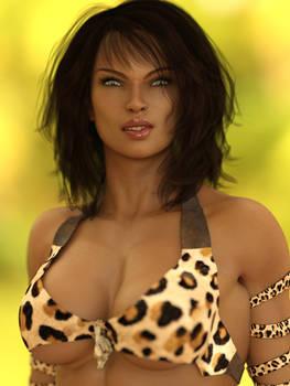 Zanya, the Jungle Queen: Portrait