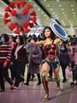 Wonder Woman fights the Coronavirus Pandemia by DahriAlGhul