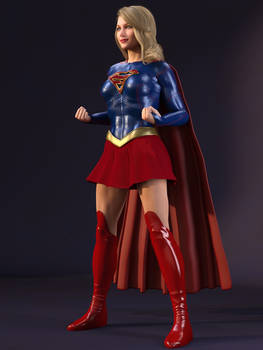 Supergirl ready for a fight B