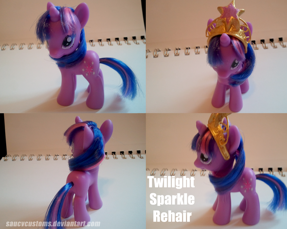 Twilight Sparkle Rehair by saucycustoms