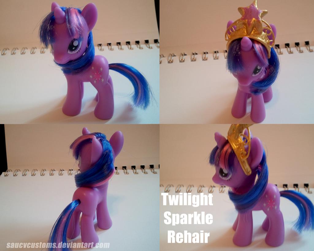 Twilight Sparkle Rehair by saucycustoms