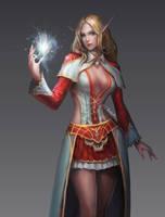 Elf cleric by SKtneh