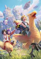 Fan Art of Final Fantasy IX by SKtneh
