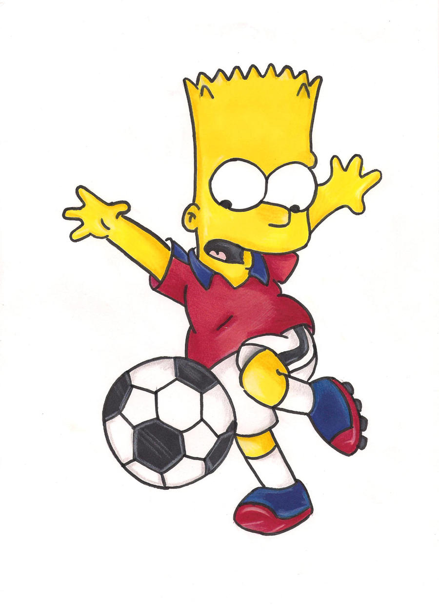 commission: soccer bart by bleugirl
