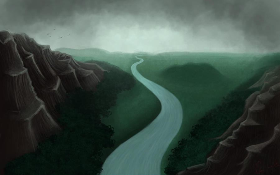 Environment Digital Painting By Catmilk90 On Deviantart