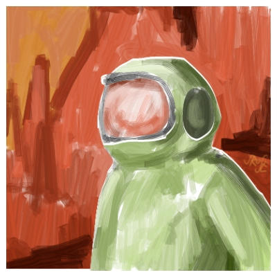 Martian Explorer by Jodee