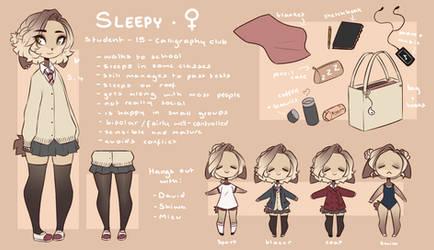 School Au Sleepy Ref by SleepyGrim