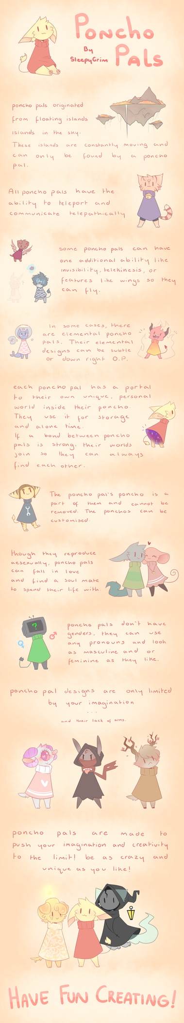 Guide to Poncho Pals by SleepyGrim
