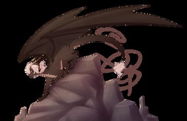 Grim the Dragon Redraw by SleepyGrim