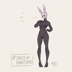 Dress Up Rabbit Head