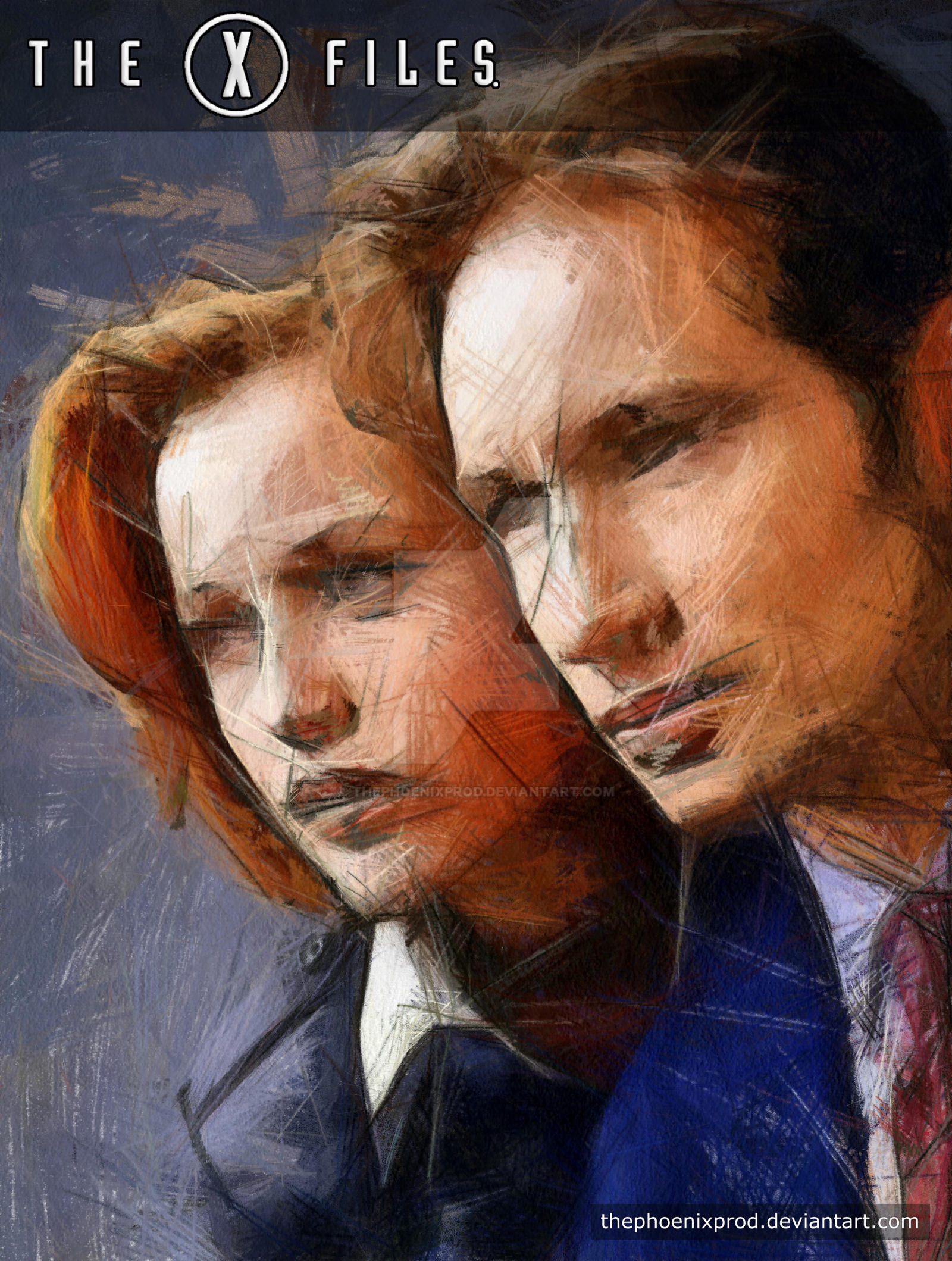The X Files - Mulder and Scully by thephoenixprod