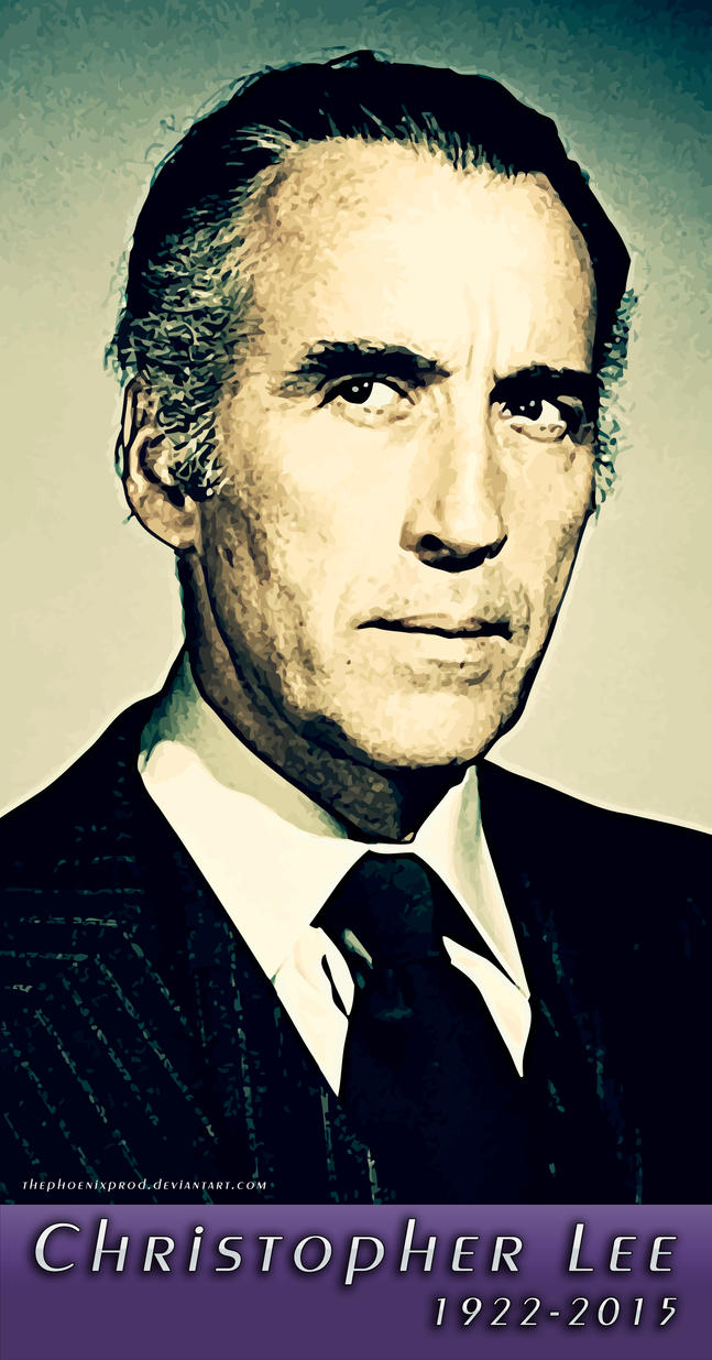 Christopher Lee (1922-2015) (Tribute) by thephoenixprod