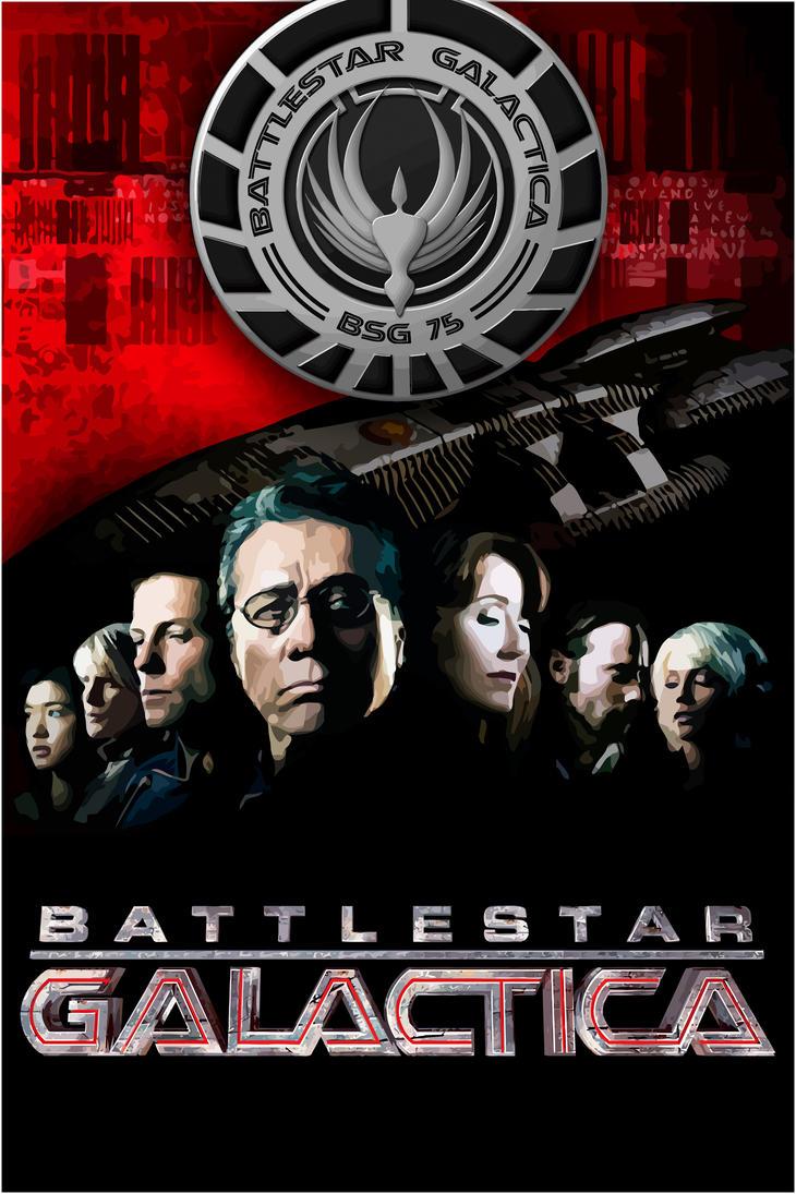 Battlestar Galactica (Fan Art Poster) by thephoenixprod