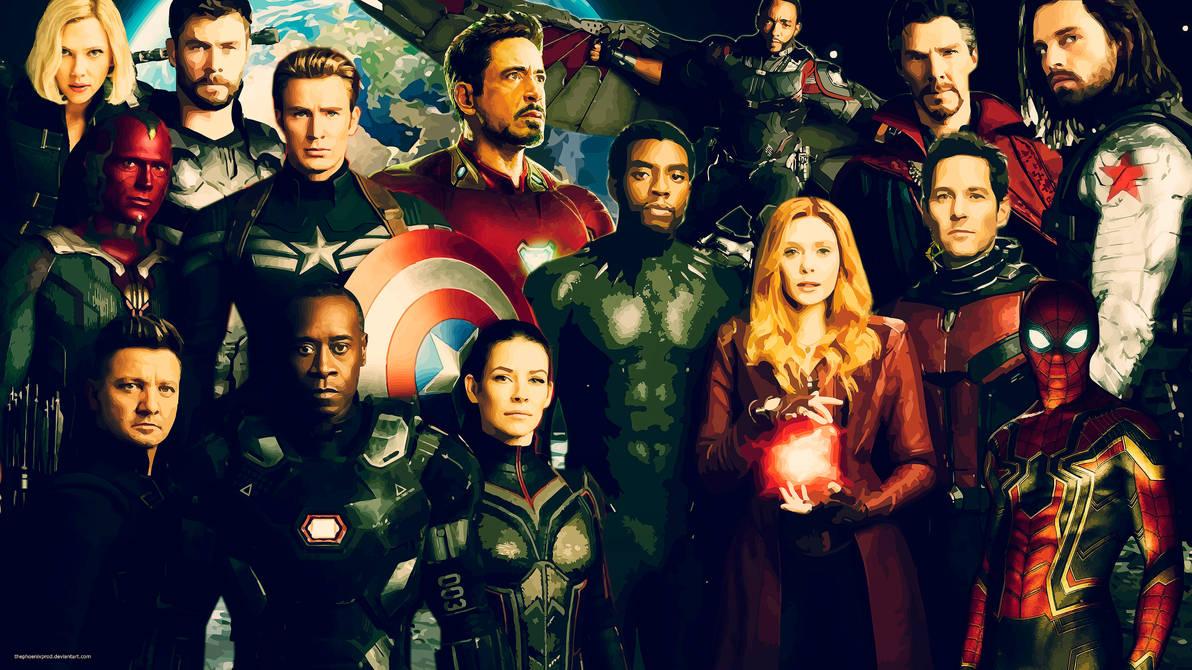 Avengers 4k Hd Wallpaper No Logo By Thephoenixprod On Deviantart