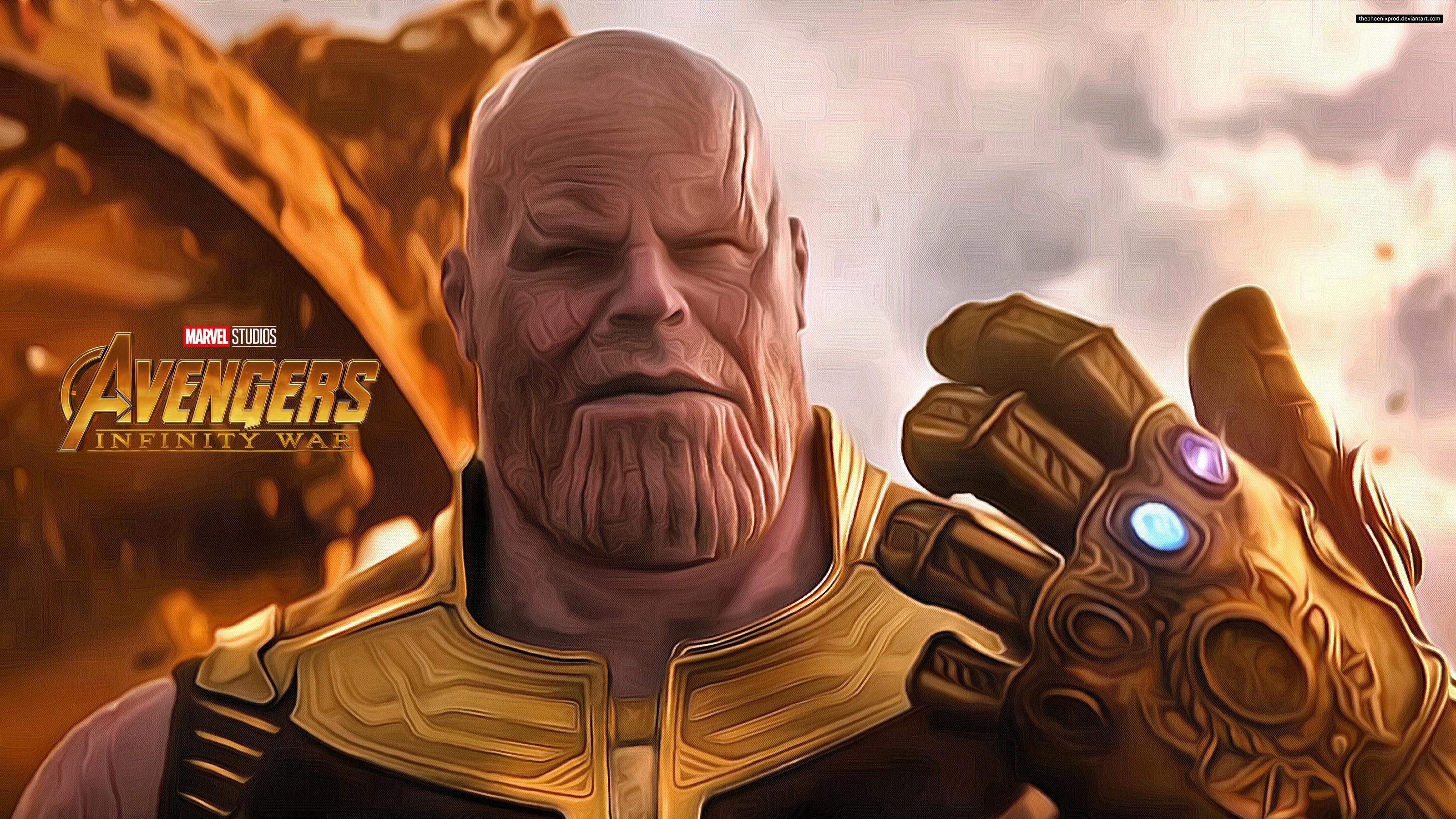 Avengers 3 Infinity War Thanos 4k Wallpaper By Thephoenixprod On Deviantart