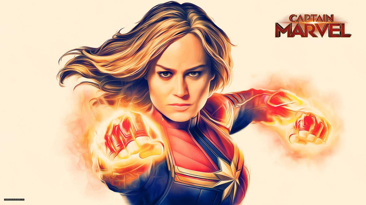 Captain Marvel (Wallpaper) by thephoenixprod