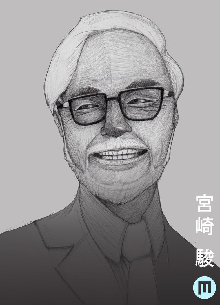 Hayao Miyazaki by MangoKingoroo