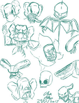 Monster Sketch Dump