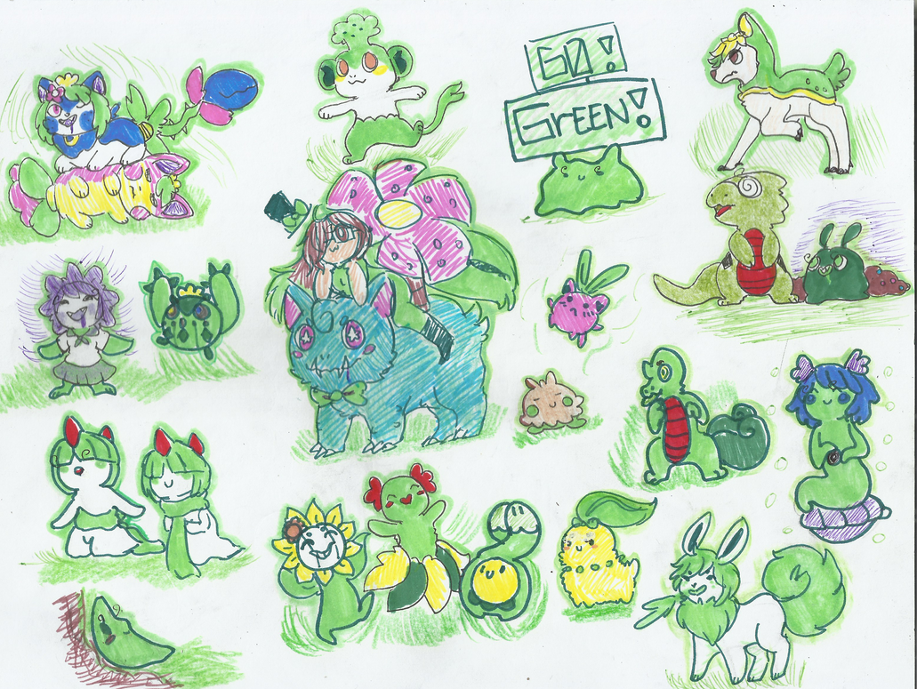 Green Is Not A Creative Color by konichu-kitsune on DeviantArt