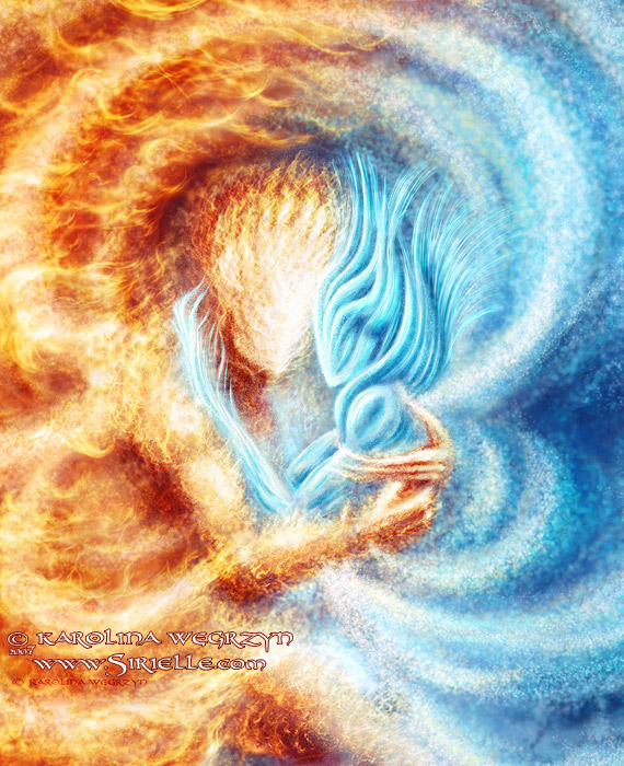 Fire And Ice Close Up By Sirielle On DeviantArt