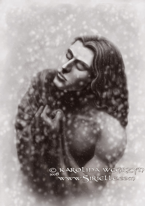 The First Snow - sepia by Sirielle