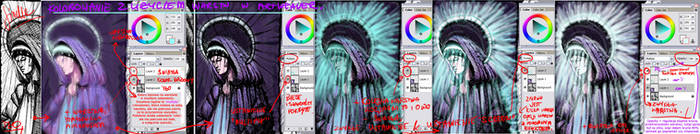 Coloring on layers - ArtWeaver