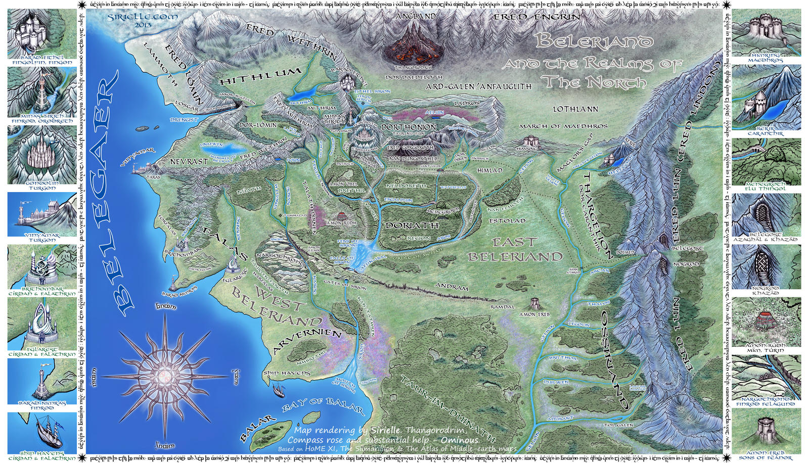 Beleriand and Realms of The North by Sirielle
