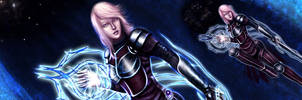 Lightning with Energy shield by Sirielle