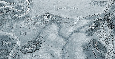 North-East Beleriand mono by Sirielle