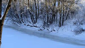 Frozen river by Sirielle