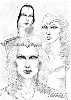 Finarfin, Idril Celebrindal and Anaire