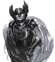 Inktober 2019-10-19 Black Knight