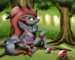 Zealous Zoroark by MykeGreywolf