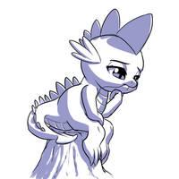 Dragon pose challenge #16: Spike by MykeGreywolf