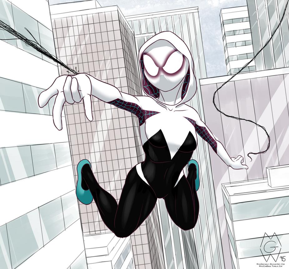 Spider Gwen by MykeGreywolf