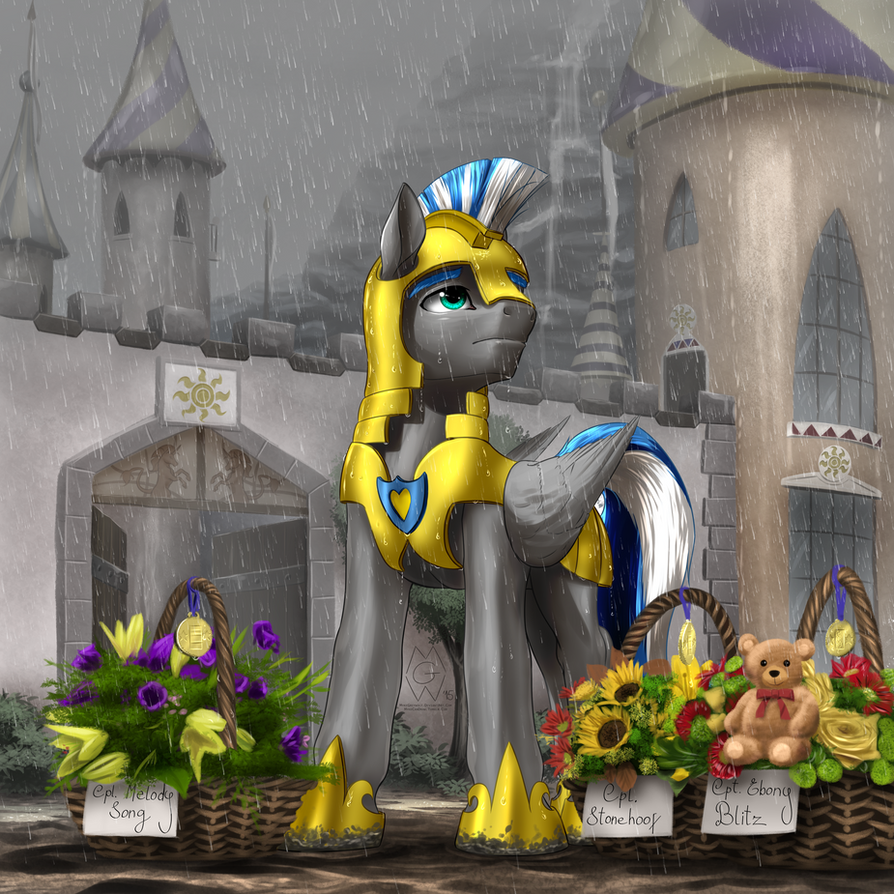 Commission: Under the Rain by MykeGreywolf