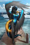 Commission: Swimsuit Thunderblitz