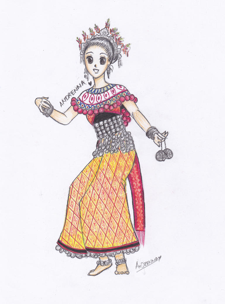 Iban Traditional Clothing by Andrenna
