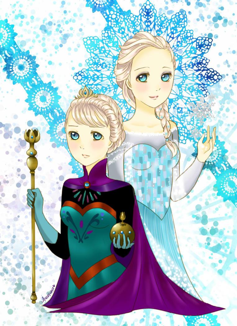 Elsa Frozen by Andrenna